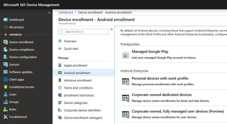Intune – Fully Managed Android is here! – The Diary Of An
